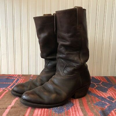 Stewart Boot Co Vintage 1977 Brown Leather Mens 9 E Western Cowboy Boots