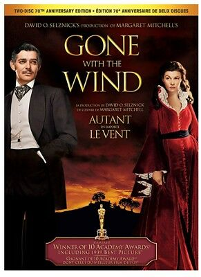 Gone With the Wind: 70th Anniversary Edition (Bilingual) DVD *NEW**