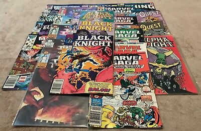 Lot of 25 Assorted Marvel Comics Comic Books - Black Dragon Marvel Saga + More