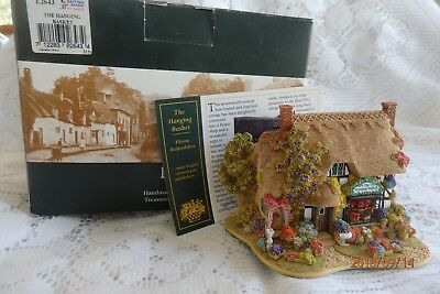 """Lilliput Lane Cottage """"The Hanging Basket"""" Deed+Box For the Flower Lover"""