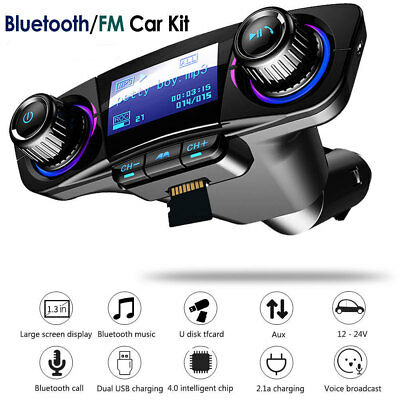 Bluetooth FM Transmitter DC5V 2.1A Wireless Trasmettitore FM Radio Per Auto USB