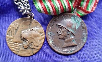 Italian Medals; Ww1 & 1936-37 Colonial Italian 'divisione Speciale Laghi' Africa