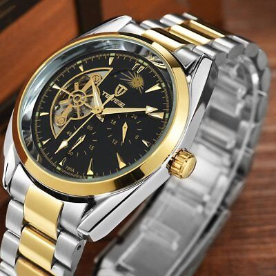 TEVISE 795a Business Men Hollow Out Mechanical Stainless Steel Wristwatch HI