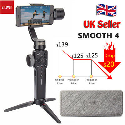 Zhiyun Smooth 4 3-Axis Handheld Gimbal Stabilizer for iPhone Action Camera UK