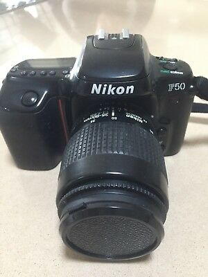 Nikon F50 SLR 35mm Film Camera 35-80mm lens and Nikon case included.