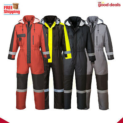 Portwest Coverall Work Wear Waterproof Overall Insulated Winter Padded S585
