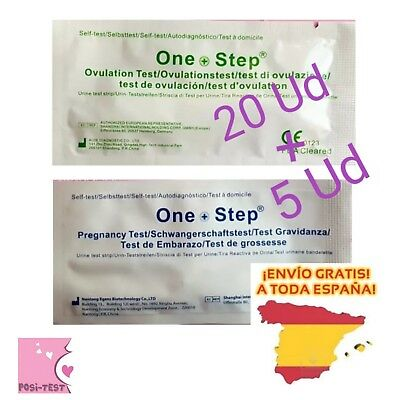 20 Test de Embarazo ultrasensibles 10mlU/mL y 5 Test de Ovulación ENVIO GRATIS