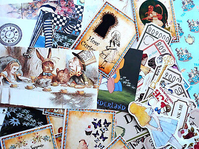 100 Alice in the wonderland Mad Hatters Tea Party Supplies Scrapbooking Journal