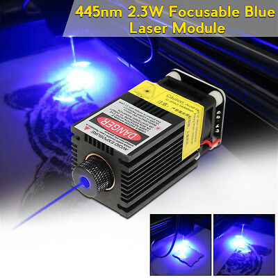 445nm 2.3W 2300mW Blue Laser Module Adapter TTL/PWM For Cutter Engraver Machine