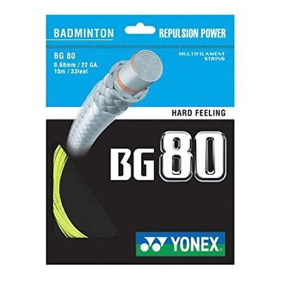 Genuine Yonex BG80 Badminton String 10m - Pre Cut From Reel, Free UK P&P