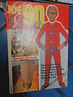 Vintage 1969 Comic Annual Joe 90  Uk Secret Agent Thunderbirds Gerry Anderson