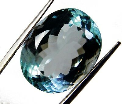 34.80 Cts. Natural Oval Cut Transparent Ocean Blue Aquamarine Loose Gems. T9601