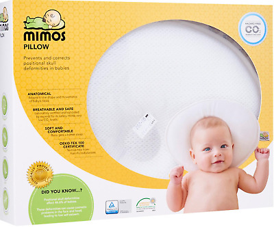 Mimos Baby Pillow Size S Small (Previous XL Size) for Flat Head/ Plagiocephaly