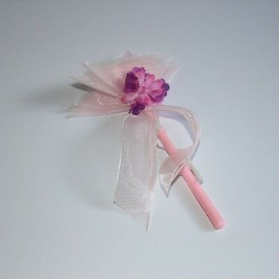 """Build A Bear- Pink and Purple, Floral, Fairy Wand, """"Like new"""""""