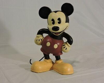 """Collectable Vintage Cast Iron Disney MCF 1929-1932 8.5"""" Mickey Mouse Coin Bank"""