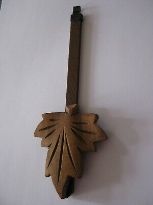 Original Vintage Hand Carved Black Forest Cuckoo Clock Pendulum 17.5 cm
