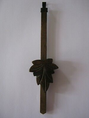Original Vintage Hand Carved Black Forest Cuckoo Clock Pendulum 18.5 cm
