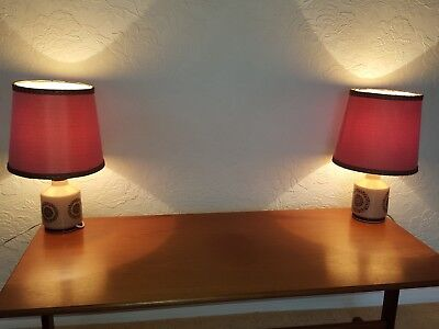 Pair Retro Vintage Table Lamps