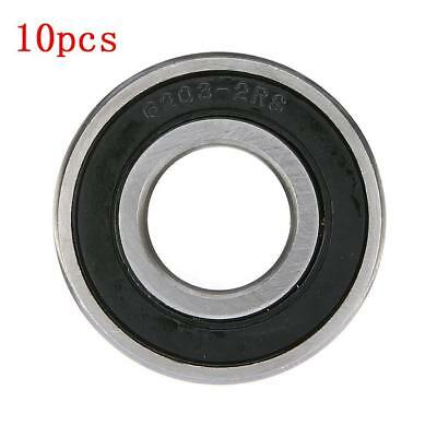 10 Bearings 6203-2RS  17*40*12 Rubber Seals Deep Grooved Radial Ball Bearing aUs