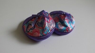 """Build A Bear- Pink and Purple Patterned Pyjama Slippers, Shoes, """"Like new"""""""