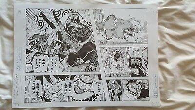 One Piece Official Manga Replica Luffy and Law VS Doflamingo and Trebol