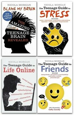 Nicola Morgans Teenage Guide 3 Books Collection, Guide To Friends, stress, Brain