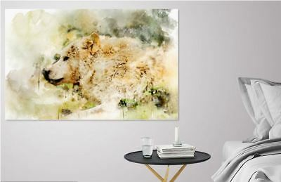 ARTISTIC WATERCOLOR BROWN BEAR high quality wall Canvas wall art home decor