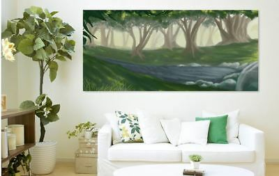 ARTISTIC WATERCOLOR WILD SCENERY high quality wall Canvas wall art home decor