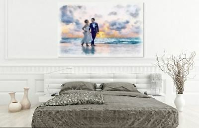 ARTISTIC WATERCOLOR WEDDING SCENERY high quality wall Canvas wall art home decor