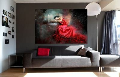 ARTISTIC WATERCOLOR ROMANCE SCENERY high quality wall Canvas wall art home decor