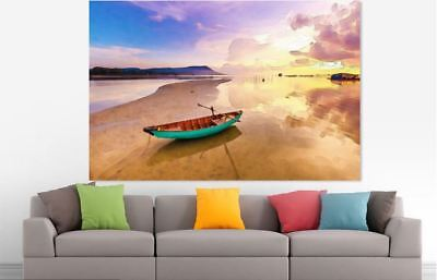 ARTISTIC WATERCOLOR BEACH SCENERY high quality wall Canvas wall art home decor