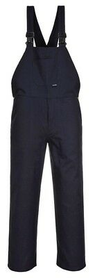 PORTWEST C881 navy blue work bib and brace dungarees size small-4XL