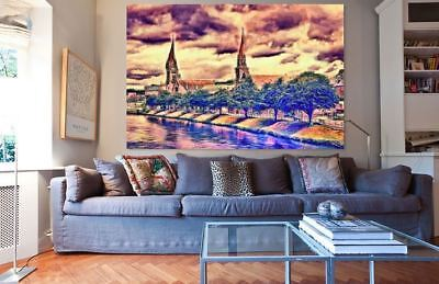 ARTISTIC WATERCOLOR LONDON SCENERY high quality wall Canvas wall art home decor