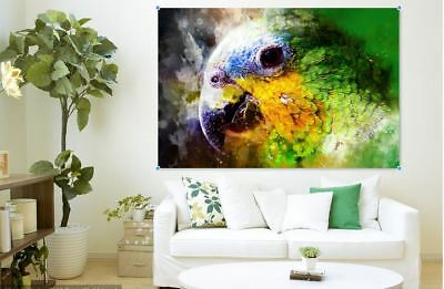 ARTISTIC WATERCOLOR PARROT SCENERY high quality wall Canvas wall art home decor