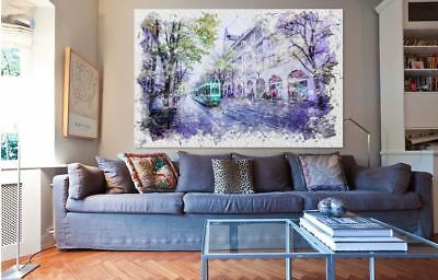 ARTISTIC WATERCOLOR PARIS high quality wall Canvas wall art home decor