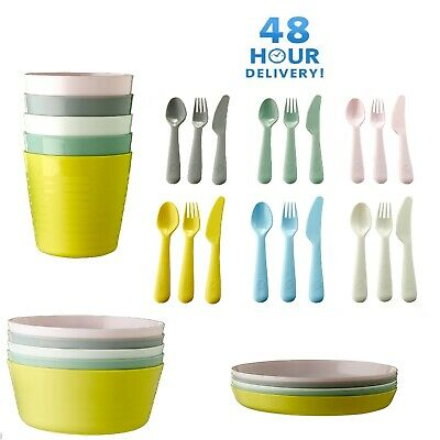 IKEA Kalas Children Kids Plastic Plate Mug Cups Bowls and Cutlery Set By IKEA