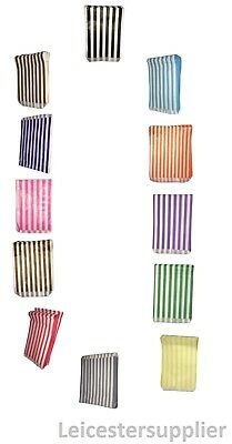 "Candy Sweet Shops Stripe Paper Bags Imported Quality 12 Colour Range 5x7"" / 7x9"""