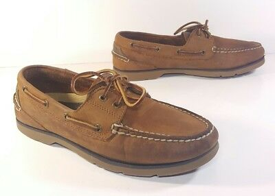 Sperry Top Sider Defender 0194621 Deck Shoes Brown Leather Mens 8 M