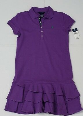 Nwt Polo Ralph Lauren Girls Dress Purple Xl #72
