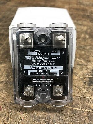Magnecraft W6240ASX-1  90-280 VAC 40 Amp Solid State Relay