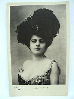 VINTAGE CPA ORICELLY MEATY FLEURON ACTRICE COURTISANE SENSUALITE   c. 1900