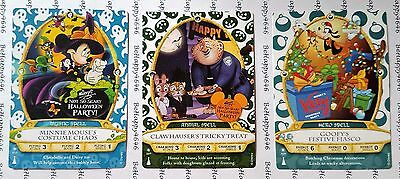 3 Sorcerers Of The Magic Kingdom Party Cards MINNIE 7P, CLAWHAUSER 9P, GOOFY 10P
