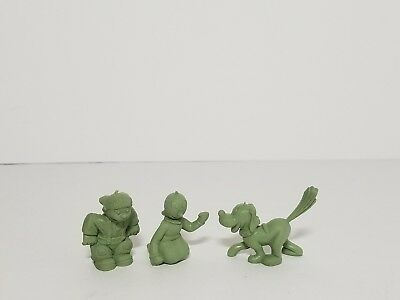 Vintage 50s-60s MARX Green Molded Plastic Figures Popeye Sunday Funnies Lot #7