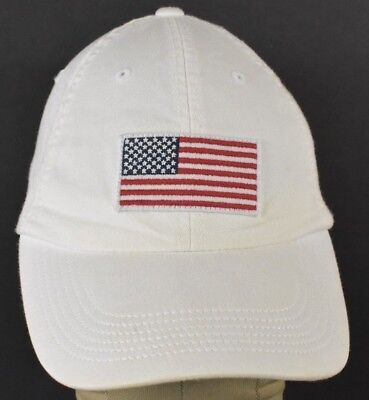 b222acb4c70 White USA American Flag Old Navy Embroidered Baseball Hat Cap Adjustable  Strap