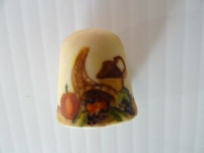 Handpainted 'ROBA' Bisque Porcelain Thimble-Signed!