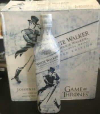 White Walker By Johnnie Walker Game Of Thrones Limited Edition New (Empty)