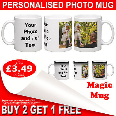 Personalised Photo Mug or Magic Mug - Custom Full Color Printed Gift Coffee Cup