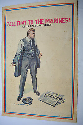 WWI  Tell That To The Marines  Recruitment Poster by James Montgomery Flagg