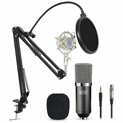 TONOR Professional Studio Condenser Microphone Computer PC Micro. Kit w3.5mm J2