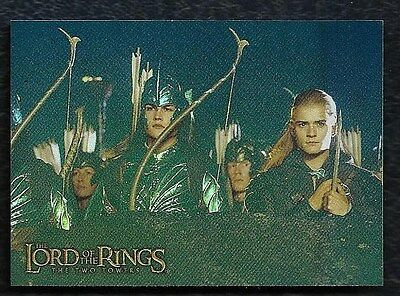 Topps Lord of the Rings Prismatic Foil THE TWO TOWERS Card #3 Legolas
